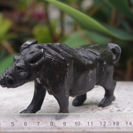 serpentine carved warthog
