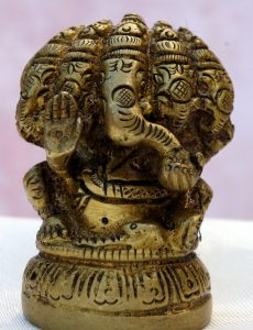 Panchamukhi 5-faced Ganesha Brass Statue