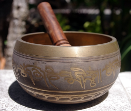 Machine Made Buddha Eyes Himalayan Singing Bowl HSBE007MM