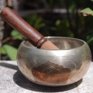 Himalayan Singing Bowl Machine Made Engraved HSBE021