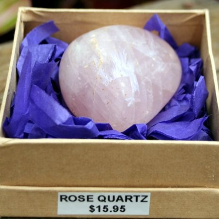 Hand Polished Rose Quartz Crystal