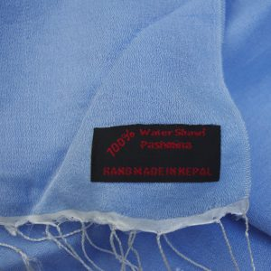Pale Blue Water Pashmina Shawl