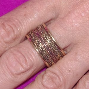 Engraved Brass Ring